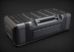 Sci-fi Military Crate 3D Model