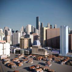 City Scape 02 3D Model