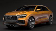 Audi Q8 50 TDI quattro S line 2018 3D Model
