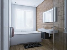 No 7 Bathroom interior design 3D Model