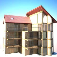Cottage House-Villa 3D Model