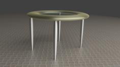 Modern glass table 3D Model