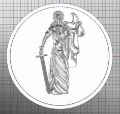 Coin femida 3D Model