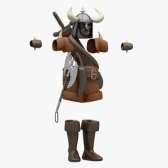 Barbarian Cloth 3D Model