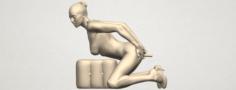 Naked Girl B03 3D Model