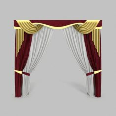 Curtains 14 3D Model