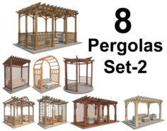 8 Pergolas Set 2 3D Model