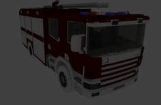 Scania- tanker truck 3D Model