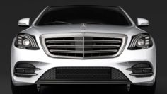 Mercedes Benz S 500 Lang AMG Line V222 2018 3D Model