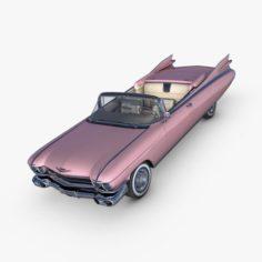 Cadillac Eldorado 62 series 1959 convertible pink 3D Model