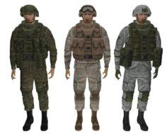 Soldier in the complete set of equipment Ratnik 3D Model