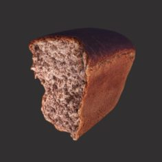Soviet Brick Bread Cut 3D Model
