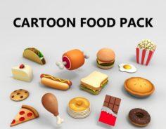 Cartoon Food Pack 3D Model
