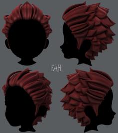 3D Hair style for boy V20 3D Model