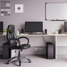 Workplace Office Set 3D Model