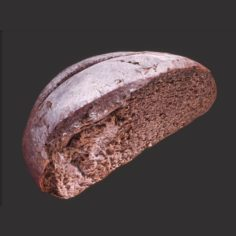 Brown Bread Cut 3D Model