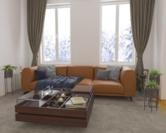 No 18 Living room interior design 3D 3D Model