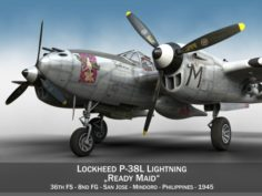 Lockheed P-38 Lightning – Ready Maid 3D Model