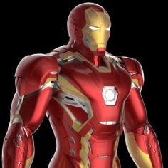 Mark 45 Iron Man Armor-Suit – Avengers Age of Ultron 3D Model