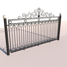 Fence 01 3D Model