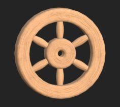 Cartoon wooden wheel 1 3D Model