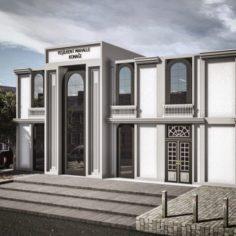 Modern Building-4 3D Model