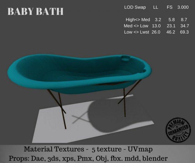 Baby Bath 3D Model
