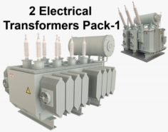 2 Electrical Transformers Pack1 3D Model
