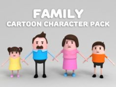 Family Character Pack 3D Model