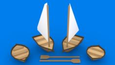 Small Boats Kit 3D Model