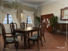 Dinning room 3D Model