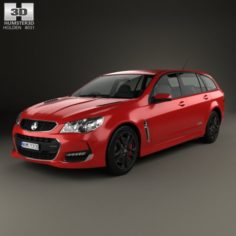 Holden Commodore SS-V Redline Sportwagon 2015 3D Model