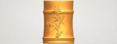 Brush Pot Pencil Vase Bamboo 3D Model