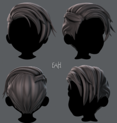 3D Hair style for boy V27 3D Model