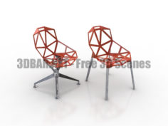 HMI Chair One 4-Star Base 3D Collection