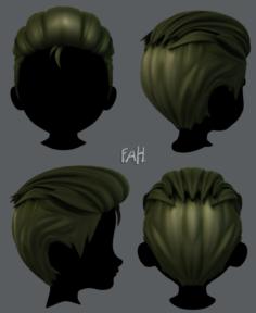 3D Hair style for boy V17 3D Model