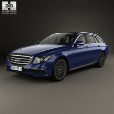 Mercedes-Benz E-Class S213 Exclusive Line estate 2016 3D Model