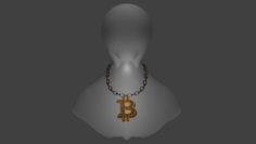 BitcoinNecklace 3D Model