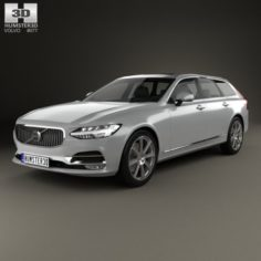 Volvo V90 T6 Inscription 2016 3D Model