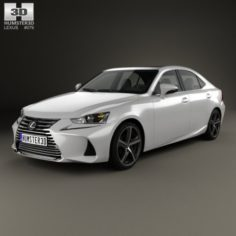 Lexus IS XE30 350 2016 3D Model