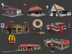 Fastfood Restaurants Pack 3D Model