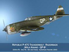 Republic P-47C Thunderbolt – Wela Kahao – QP-B 3D Model