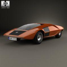 Lancia Stratos Zero 1970 3D Model