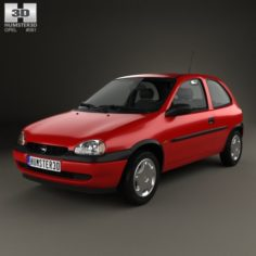 Opel Corsa B 3-door hatchback 1998 3D Model