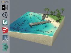 Cube Beach 3D Model