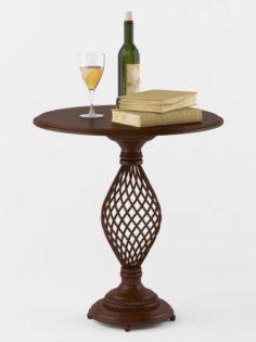 Decorative Wooden Coffe Table 3D Model
