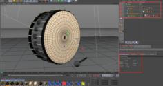 Drum and gavel Model 3D Model