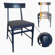 Noli beech chair 3D Model