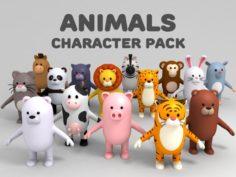 Cartoon Animal Model Pack 1 3D Model