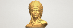 Red Indian 03 – Bust 3D Model